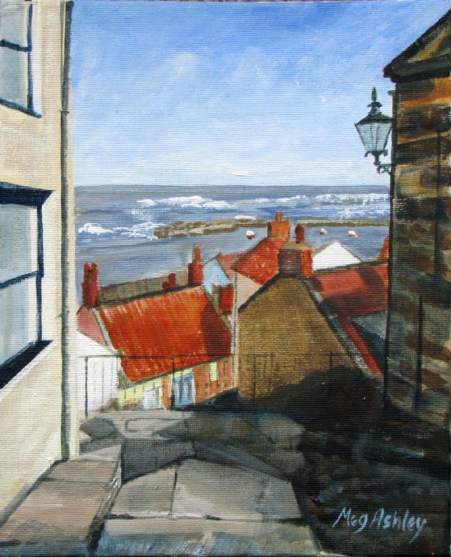 Staithes. Fishing village