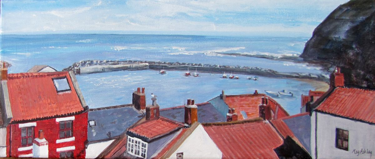 Staithes Harbour by Meg Ashley